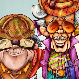 Ilustración y diseño de personajes. Adolfo y Rodolfo