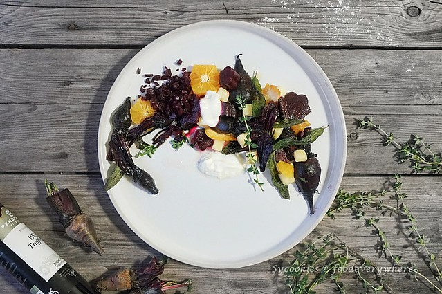3.Citrus beet salad with truffle oil - D'Ark's Roasted Beetroot Salad inspired, with Panasonic Electric Oven