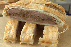 Giant Pork & Stuffing Sausage Roll Slices