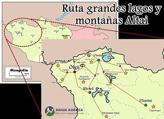 Ruta región kazaja y montañas Altai