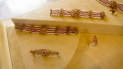 An Indian style pearls set at Royal Jewelry Museum of Egypt