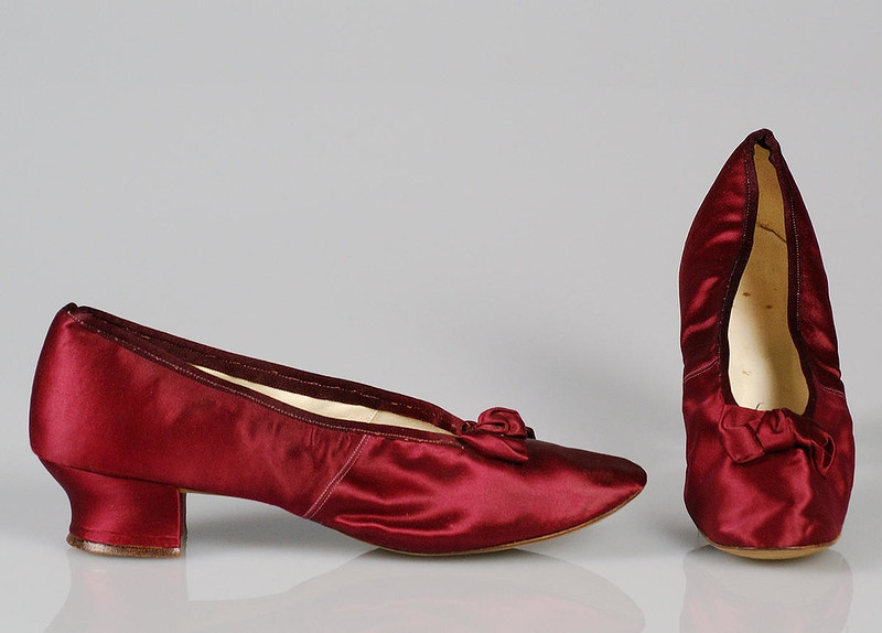 1890 Evening slippers. French. Silk. metmuseum