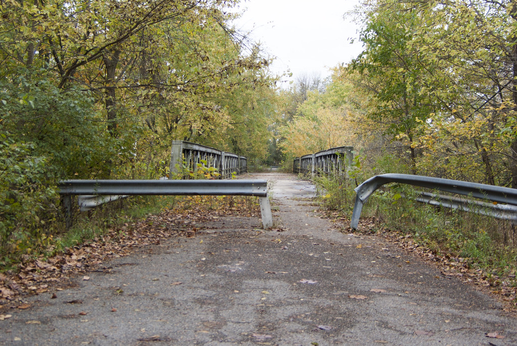 Abandoned bridge on Old SR 37