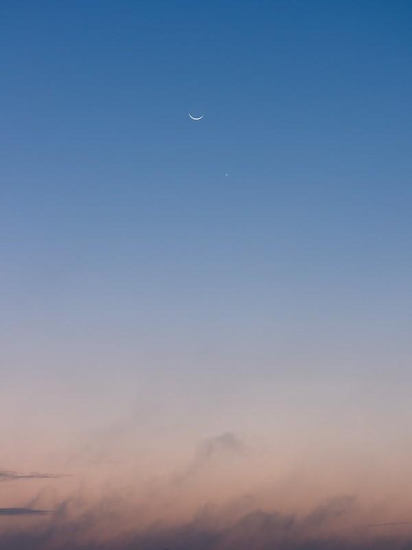 月と金星 (2017/10/18 05:29)