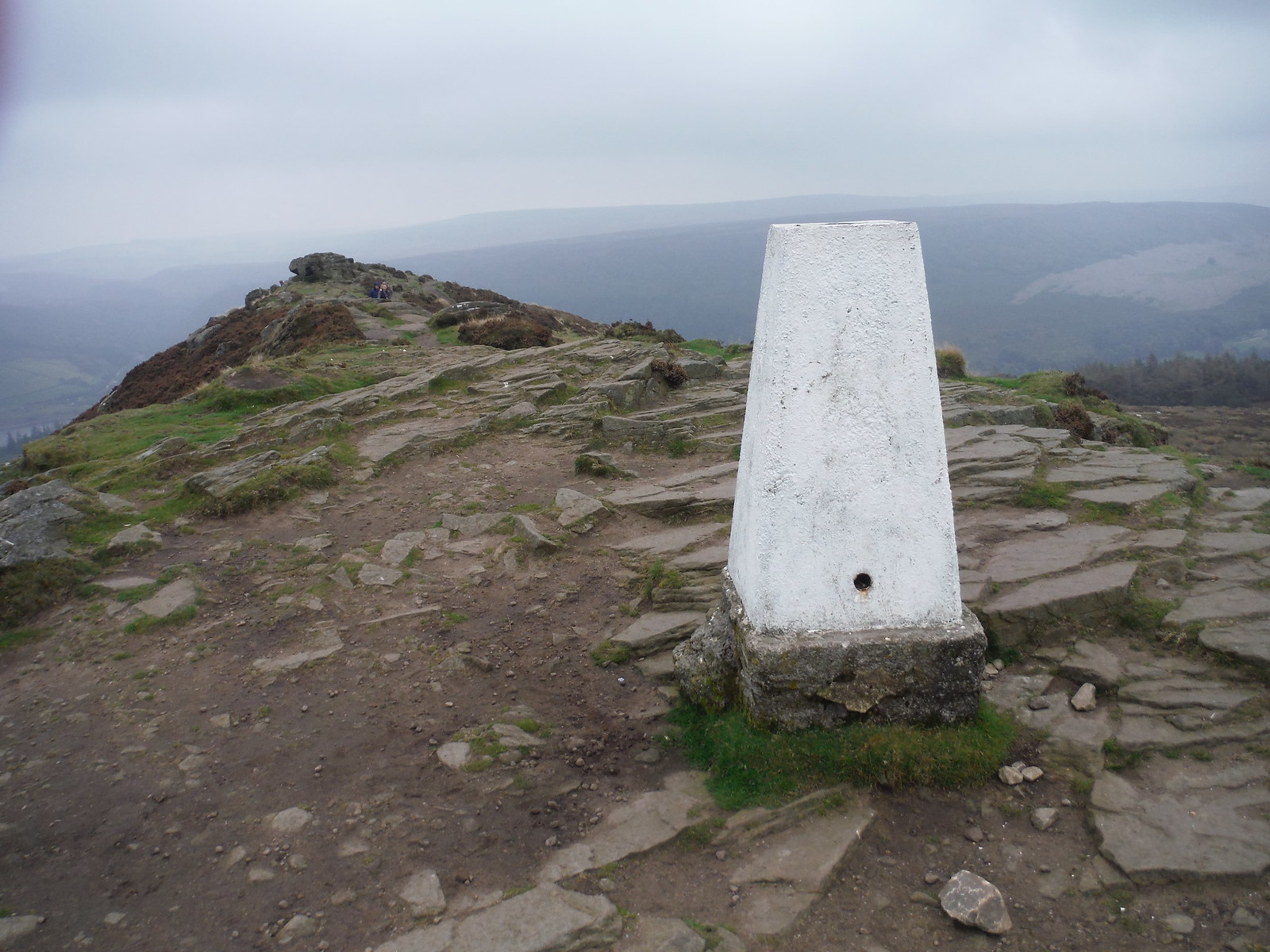 Trig Point on Win Hill Pike SWC Walk 302 - Bamford to Edale (via Win Hill and Great Ridge)