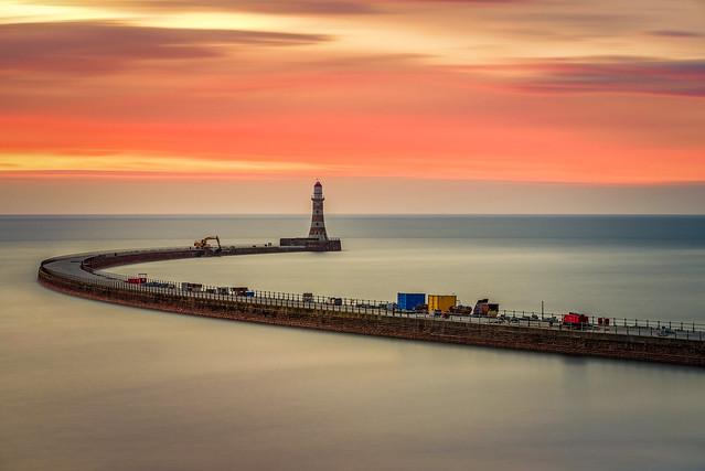 Dawn in Roker Pier