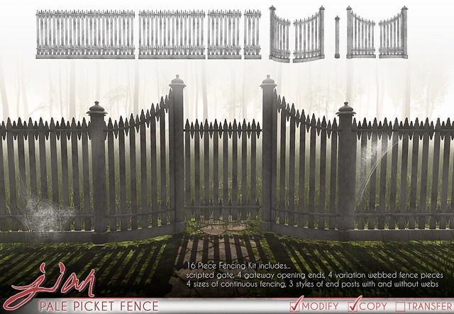 JIAN Pale Picket Fences (FaMESHed October)