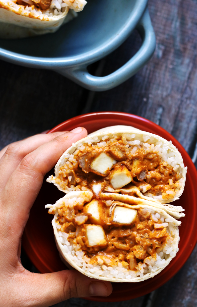 Indian Butter Paneer Burritos