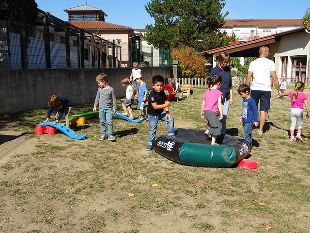 Les maternelles de l'école de Millery ont participé à des ateliers sportifs