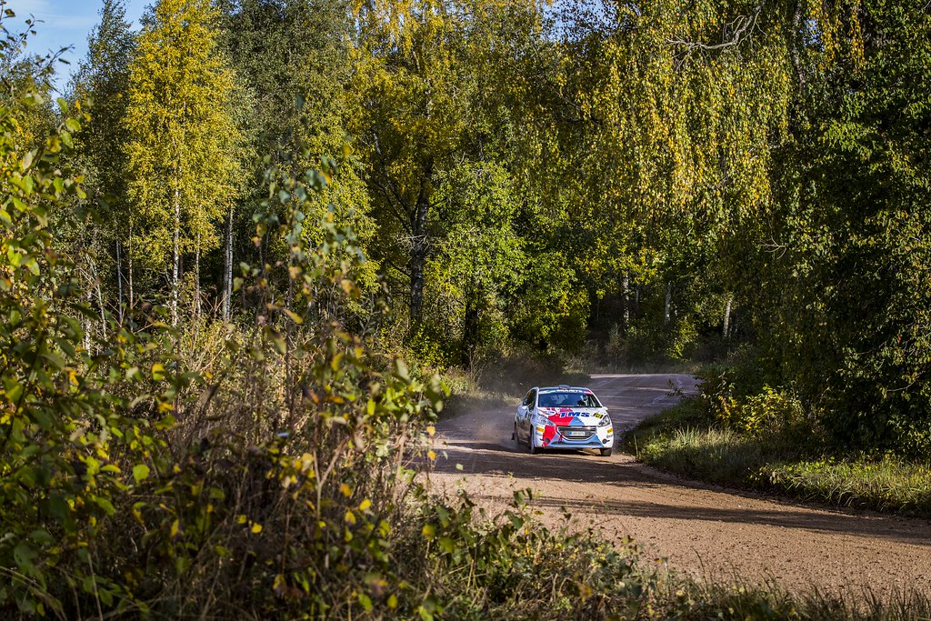 26 Broz Dominik and Tesinsky Petr, ACCR Czech Team, Peugeot 208 R2 ERC Junior U27 action during the 2017 European Rally Championship ERC Liepaja rally,  from october 6 to 8, at Liepaja, Lettonie - Photo Gregory Lenormand / DPPI