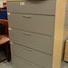 Tall grey 5 drawer filing unit E160