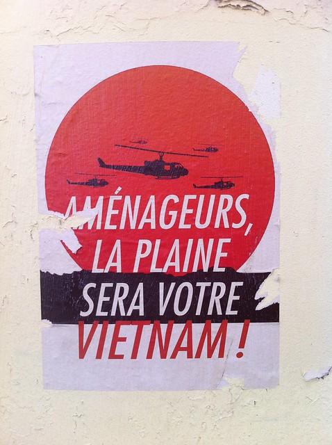 amenageurs, la plaine sera votre vietnam! Manifesten