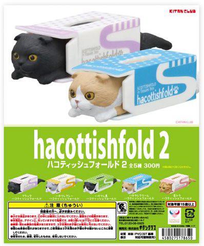 【更新官圖&販售資訊】貓奴玩具人必須要有!「面紙盒中的摺耳貓」第二彈 新色登場!ハコティッシュフォールド2