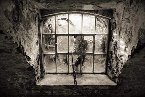 southwell workhouse nationaltrust cellar window dark indoors history old brick damp grim