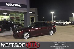 Happy Anniversary to Krissandra on your #Kia #Optima from Dennis Celespara at Westside Kia!