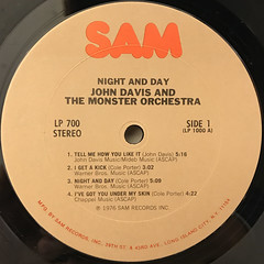 JOHN DAVIS AND THE MONSTER ORCHESTRA:NIGHT AND DAY(LABEL SIDE-A)