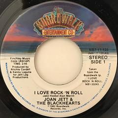 JOAN JETT & THE BLACKHEARTS:I LOVE ROCK 'N ROLL(LABEL SIDE-A)