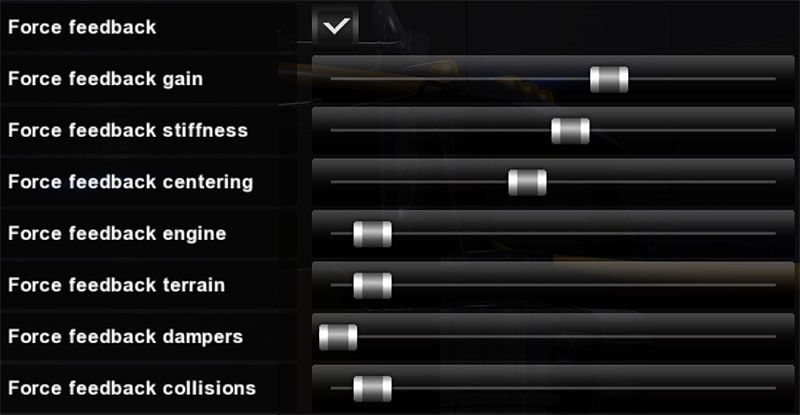 Wheel FFB-settings for ATS/ETS2 - SCS Software