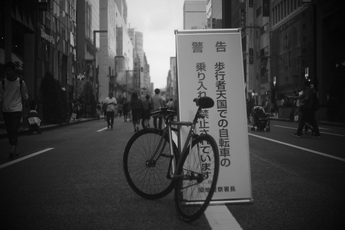 came by bicycle