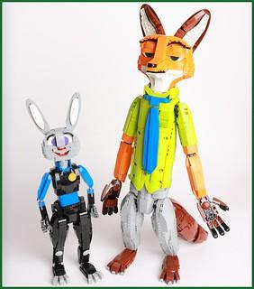 超人氣的雙人搭擋樂高化!!《動物方程市》茱蒂&尼克&可愛的三輪警車 LEGO MOC 作品俏皮登場~