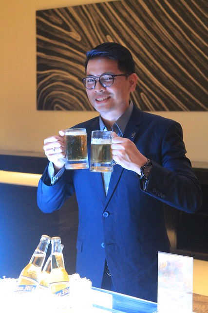 HM Ken Kapulong poses with the UnliBeer spread