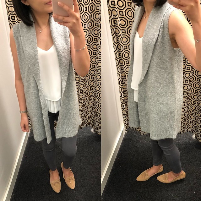LOFT Outlet Grey Sleeveless Sweater Vest (petite item no. 448744, regular missy item no. 442622), size XSP - $64.99 and currently 25% off