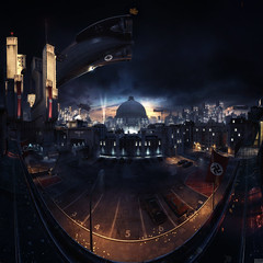 Wolfenstein: The New Order - panorama of Berlin