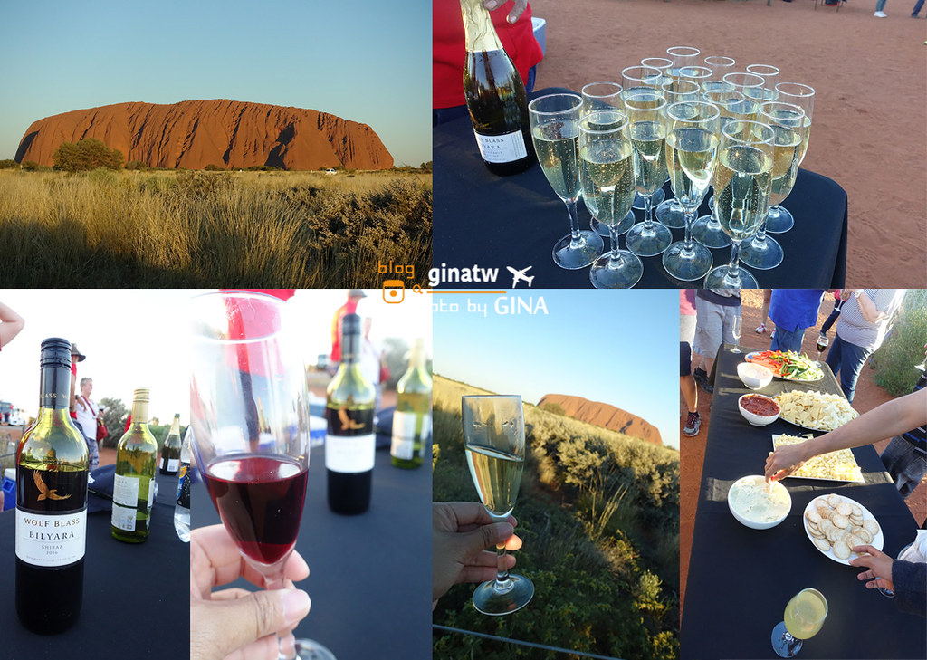 【烏魯魯自由行】艾爾斯岩(Ayers Rock)我在烏魯魯世界中心|一個人也可以玩Uluru!徒步環全程英文導覽團|日落觀景 紅酒、香檳喝到飽,澳洲北領地景點! @GINA LIN