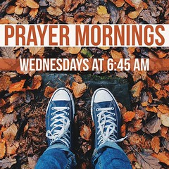 Let's continue the conversation, worship and prayer throughout the week. Join us for prayer mornings every Wednesday, and join a Redemption Group. Find a group near you at http://ift.tt/2oYaoxv