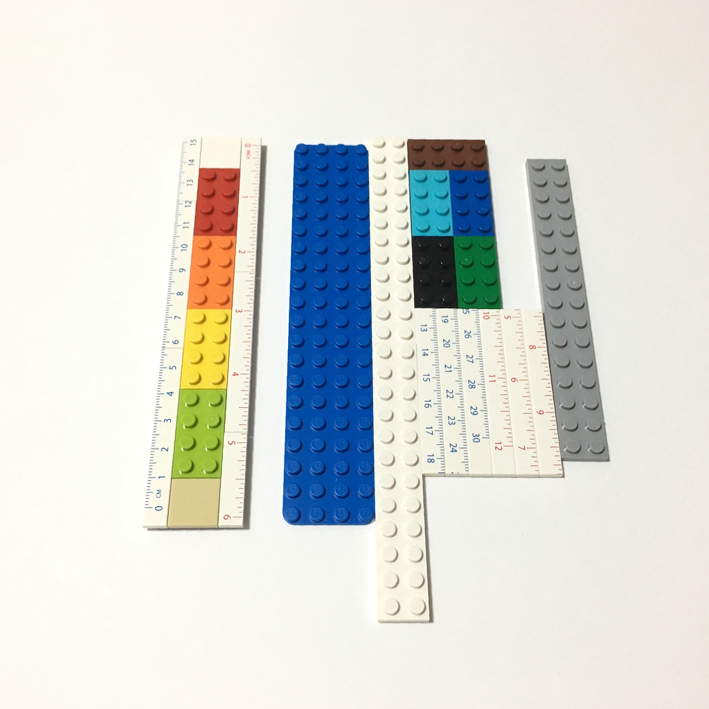 15cm ruler and remaining pieces