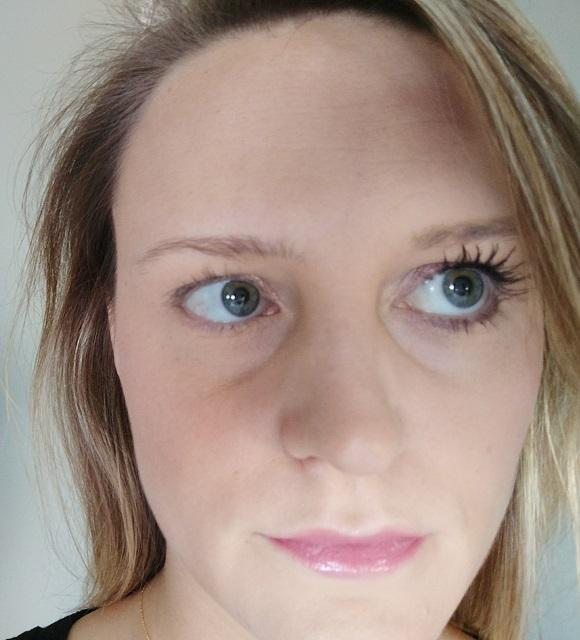 Mascara voor en na