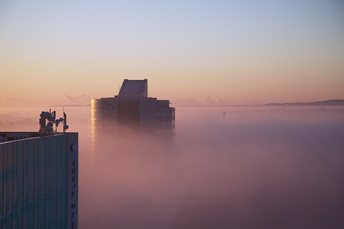 dublin ireland roi republic republicofireland dub blanchardstown crowne crowneplazahotel hotel crowneplaza fog morning earlymorning sunrise