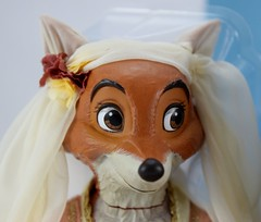 2017 Robin Hood and Maid Marian Designer Doll Set - Disney Store Purchase - Covers Off - Closeup Right Front View of Maid Marian