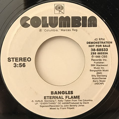 BANGLES:ETERNAL FLAME(LABEL SIDE-B)