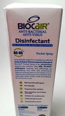 BioCair Disinfectant Pocket Spray