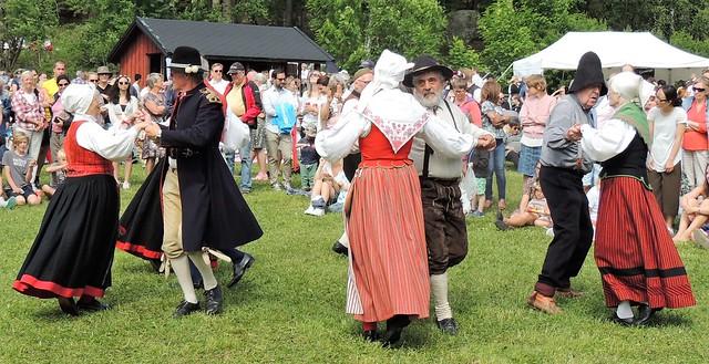 Midsummer folkdancers