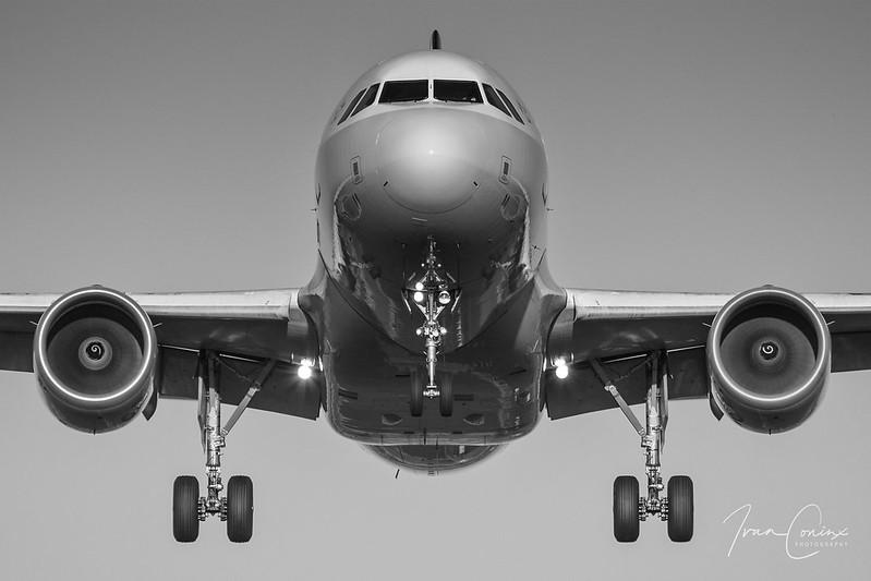 Airbus A319-112 – Brussels Airlines – OO-SSM – Brussels Airport (BRU EBBR) – 2017 10 15 – Landing RWY 25L – 02 – Copyright © 2017 Ivan Coninx