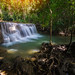 Amazing beautiful waterfalls in tropical forest at Huay Mae Khamin Waterfall