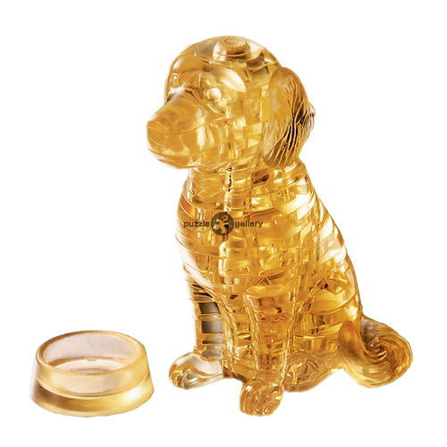 Details about 3D Crystal Puzzle Gold Dog Assembly Model Miniature Toy Gift  DIY