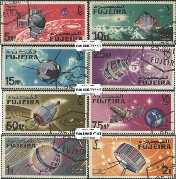 Známky Fujeira 1966 Vesmír, razítkovaná séria