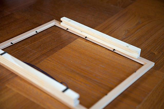 紙芝居の枠手作り組み立て