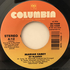 MARIAH CAREY:I'LL BE THERE(LABEL SIDE-B)