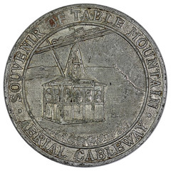 Table Mountain-Aerial Cableway Token obverse