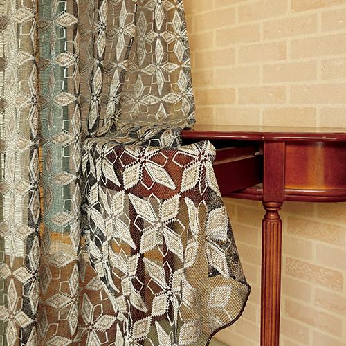 冰晶雪花網紗 鏤空蕾絲織花 無接縫窗紗布 DB1690014