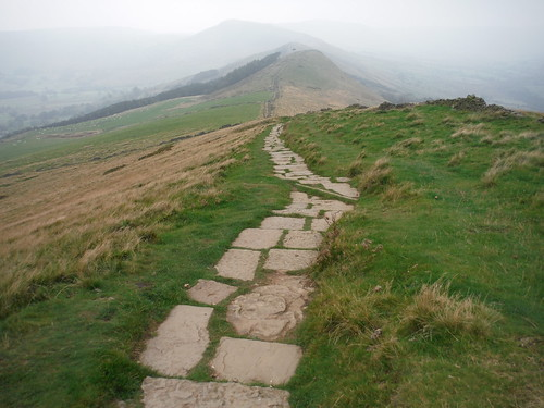 Paved Path from Lose Hill towards Back Tor