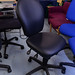 Vinyl swivel chair 4 lever mechanism E125