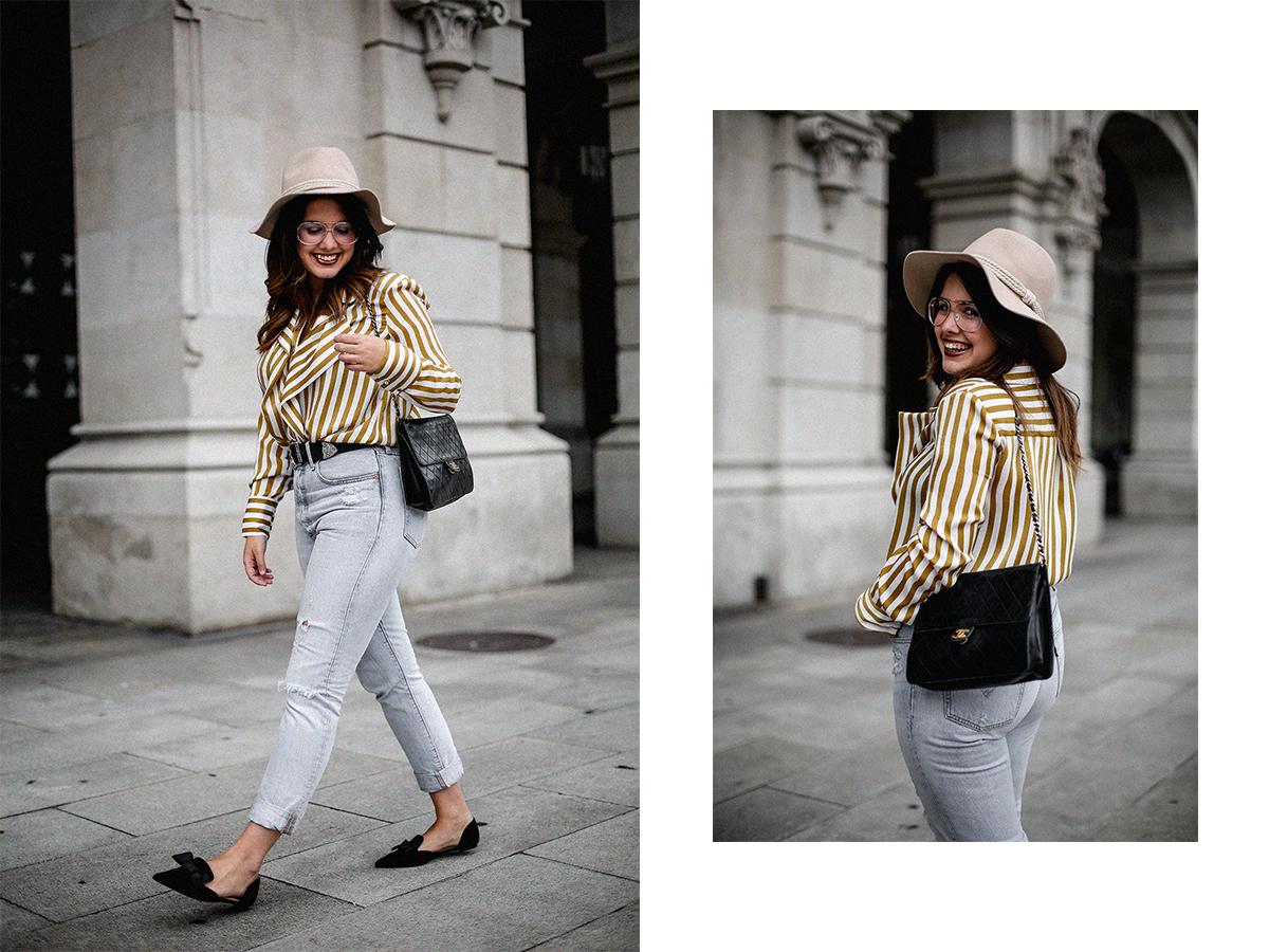 blusa rayas mostaza zara levis skinny 501 streetstyle16