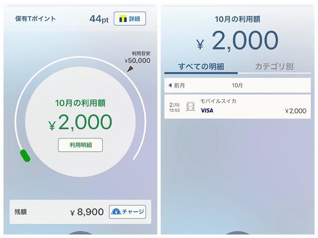 ソフトバンクカード Suicaチャージ