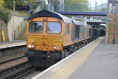 GB Railfreight . 66754 . Denmark Hill Station , South London . Tuesday 17th-October-2017 .
