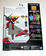 windblade with scorchfire transformers generations titans return deluxe class hasbro 2017 mosc b